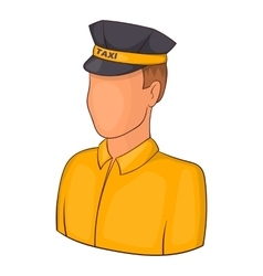 Taxi driver icon cartoon style vector