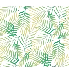 Tropical palm tree leaves background vector