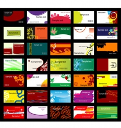 Various business cards vector