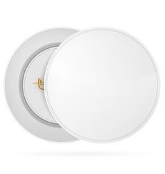 white blank circle badge vector image