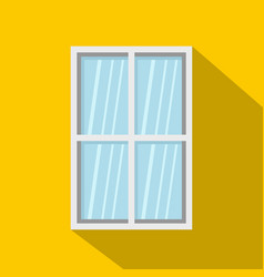 white rectangle window icon flat style vector image