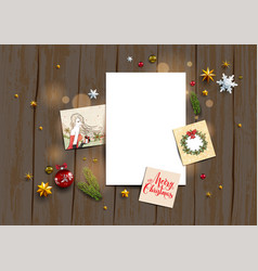 winter holiday blank vector image