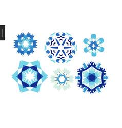 winter kaleidoscopic patterns vector image