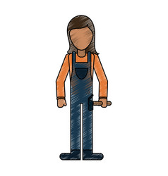 Woman worker avatar full body vector