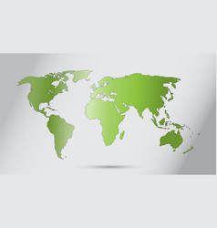world map ecology concept green world fl vector image
