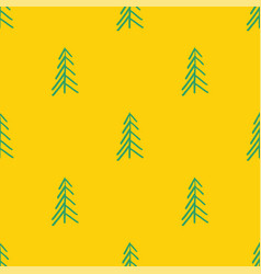 yellow green abstract simple tree seamless repeat vector image