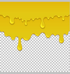 yellow sticky liquid seamless element vector image