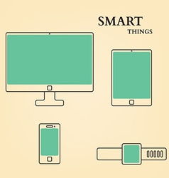 Abstract Flat TV Tablet PC Phone Watch vector image vector image