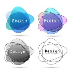 Abstract logo design element vector