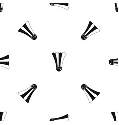 black and white shuttlecock pattern seamless black vector image vector image