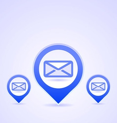 blue mail symbols vector image vector image