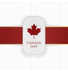 Canada Day paper Label with red Ribbon vector image