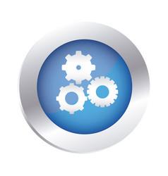 color circular emblem with pinions set icon vector image vector image