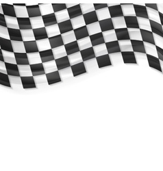 Finish wavy flag design Black and white squares vector image