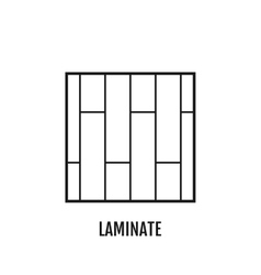 Flat icon of laminate Finishing materials floor vector image