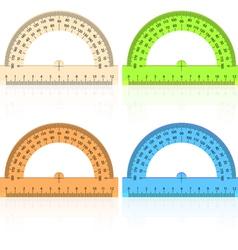 Protractor ruler vector