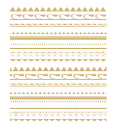 Seamless pattern in the style of the tribe vector image