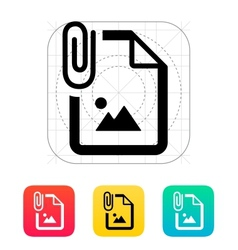 Attached Photo file icon vector image vector image