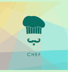 chef hat and mustache vector image