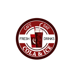 juice soda drink fast food cafe bar icon vector image vector image