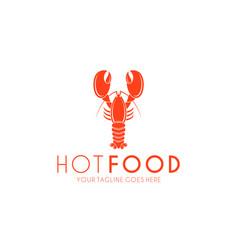 lobster logo vector image