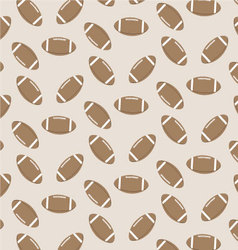 Seamless pattern american football vector image