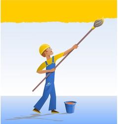 cartoon house painter vector image vector image