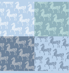 Horse pattern template vector