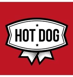 Hot Dog vintage logo vector image vector image