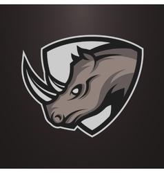Rhino symbol emblem or logo vector