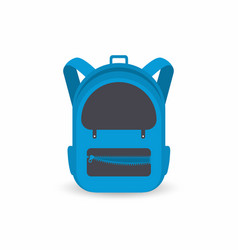 school backpack isolated on white background kids vector image vector image