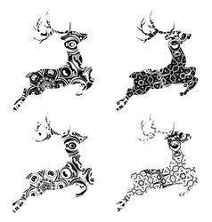 Cartoon ornamental deer vector