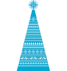 Christmas-Fir-Decor-Knit-Pattern vector image