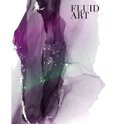 alcohol ink liquid flow in violet color tender vector image