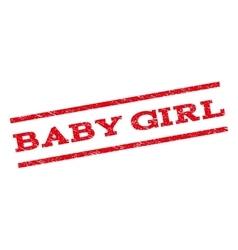 Baby Girl Watermark Stamp vector image