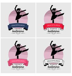 ballet dance logo design artwork ballerina vector image