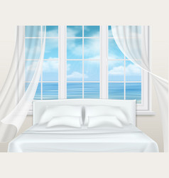 bed near window vector image