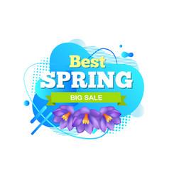 best spring big sale iris flowers abstract liquid vector image