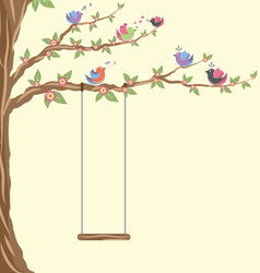 Birds the tree and the swing vector