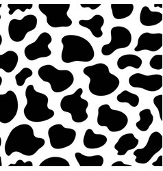 black and white seamless pattern with cow skin vector image