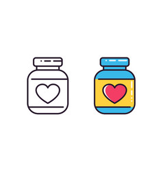 bottle of pills icons on white vector image