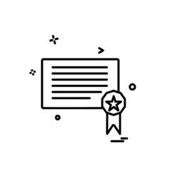 certificates icon design vector image