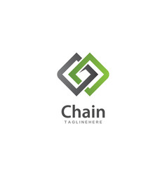 chain logo template vector image