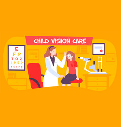 child vision care composition vector image