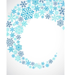 christmas blue background with snowflakes pattern vector image