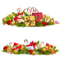 christmas concept with gifts vector image