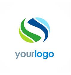 Circle loop color logo vector