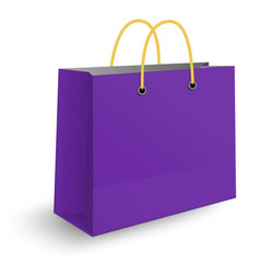 classic violet paper shopping bag vector image