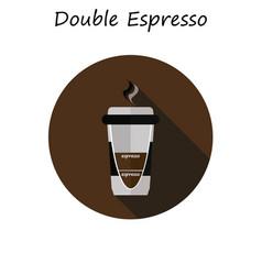Coffee double espresso vector
