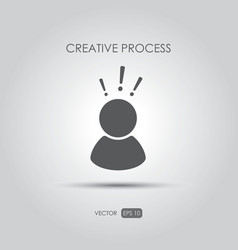 Copywriting icon Creative process vector